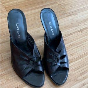 Vintage Bebe  Black Heels